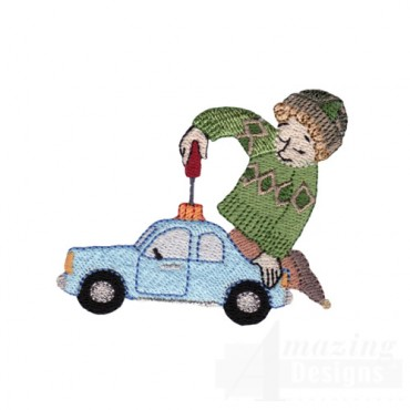 Elf Making Toy Car