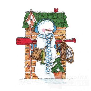 Cabin Snowman