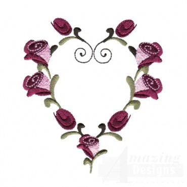 Rose Heart Frame 1