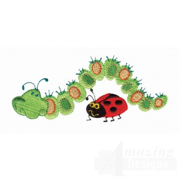 Caterpillar And Ladybug 1