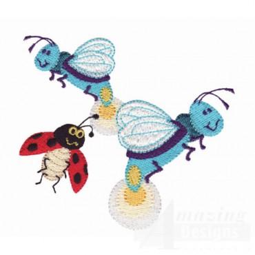 Ladybug And Fireflys