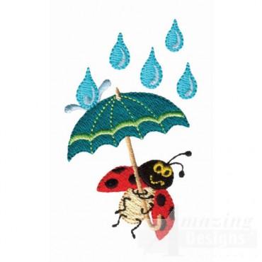 Ladybug In Rain