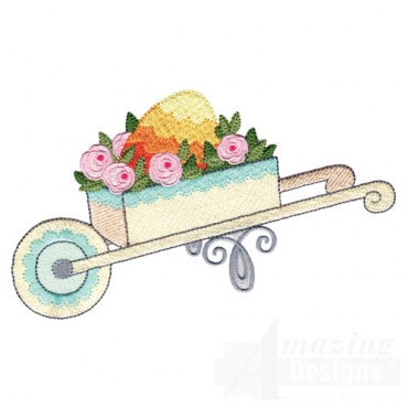 Eggs In Wheel Barrow