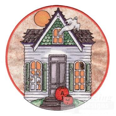 Ghost House Applique