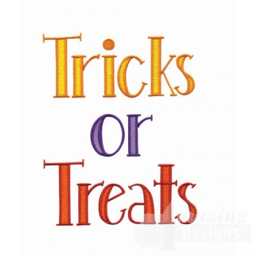 Tricks Or Treats Text