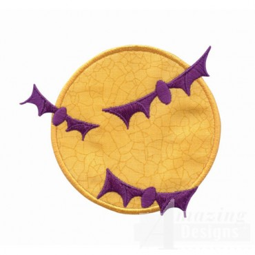 Bats And Moon Applique