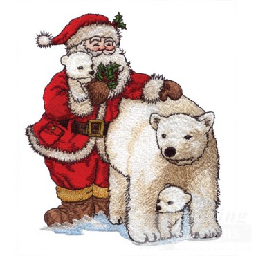 Santa With Polar Bears
