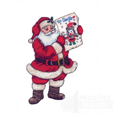 Santa With Drawing