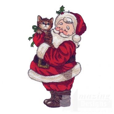 Santa With Kitten