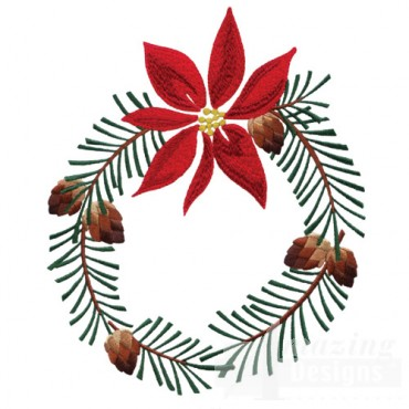 Poinsettias and Pine Boughs by Sewing With Nancy