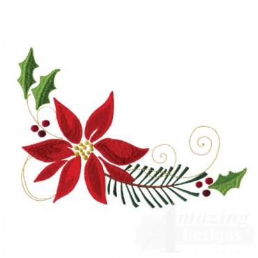 Poinsettia And Pine Boughs 2