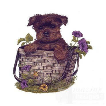 Puppy In Basket 2