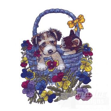 Puppy In Basket 3