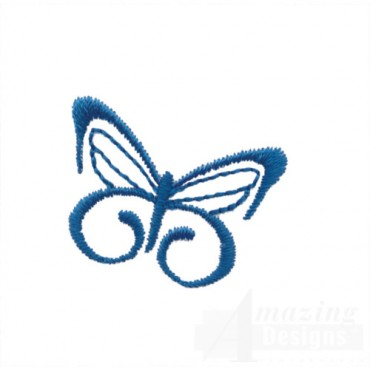 Blue Butterfly Outline