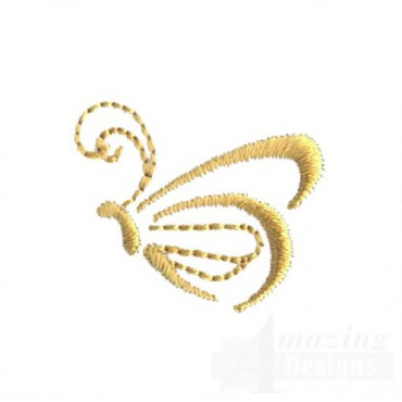 Gold Butterfly Outline