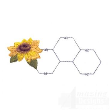 Sunflower And Chicken Wire