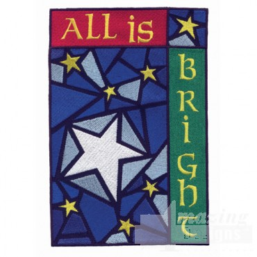 All Is Bright Applique