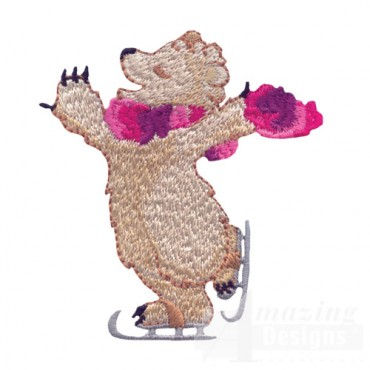 Ice Skating Bear