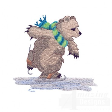 Ice Skating Bear 4
