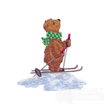 Skiing Bear