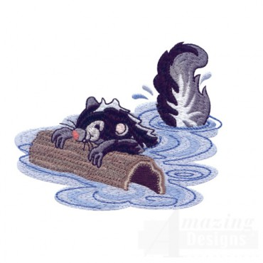 Swimming Skunk