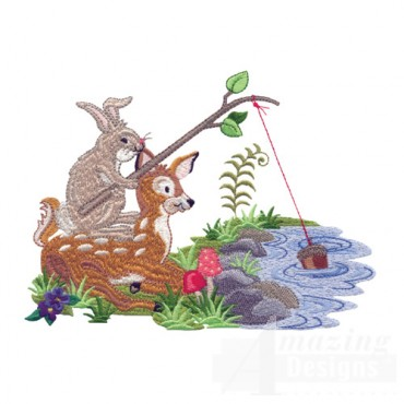 Fishing Rabbit And Deer
