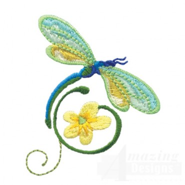 Dragonfly With Flowers 8
