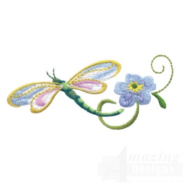 Dragonfly With Flowers 9