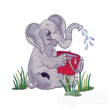 Elephant With Water