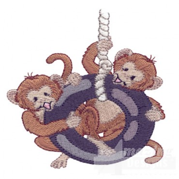 Monkeys On Swing