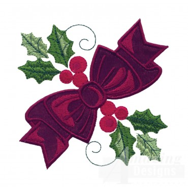 Ribbon Applique Embroidery Design