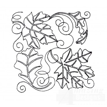 Leaf Block Embroidery Design