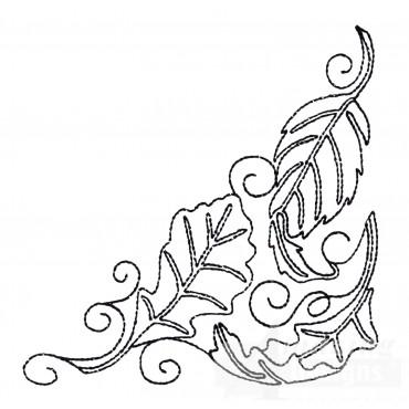 Leaf Quilt Corner 3 Embroidery Design