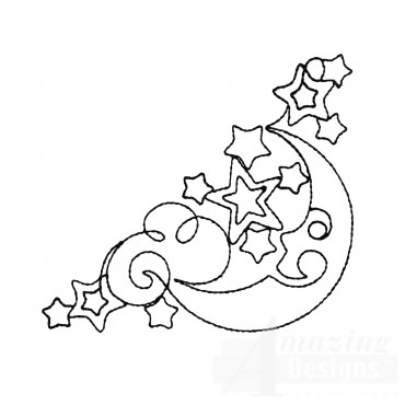 Sweet Dreams Outline 8 Embroidery Design