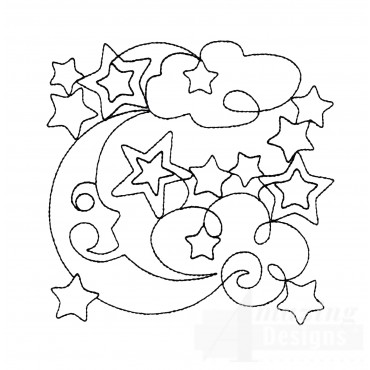 Sweet Dreams Outline 10 Embroidery Design