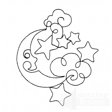 Sweet Dreams Outline 11 Embroidery Design