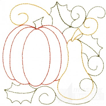 Pumpkin And Squash Embroidery Design