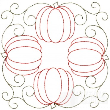 Four Pumpkins Embroidery Design