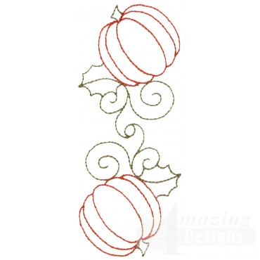 Pumpkin Line Embroidery Design