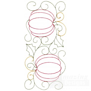 Pumpkins Embroidery Design