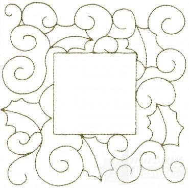 Leaf And Vine Frame Embroidery Design