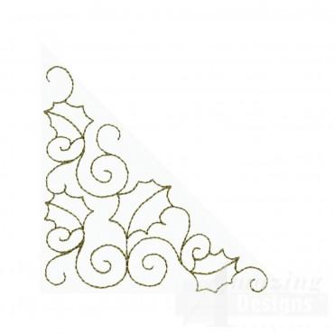 Leaf And Vine Outline Embroidery Design