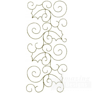 Leaf And Vine Rectangle Embroidery Design