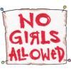 No Girls Sign