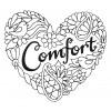 Comfort Heartfelt Doodle Embroidery Design