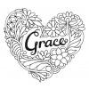 Grace Heartfelt Doodle Embroidery Design