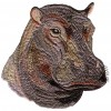 Hippo Head Serengeti Pride Embroidery Design