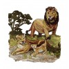 Lion Scene Serengeti Pride Embroidery Design