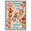 Six Monkeys My Circus Counting Book Embroidery Design