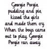 Georgie Porgie